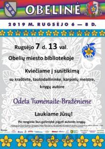 Susitikimas su Odeta Tumėnaite-Bražėniene