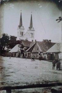 Miesto centrinės dalies vaizdas. Obelių gimnazijos muziejaus nuotrauka