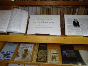 Obelių bibliotekos parodos fragmentas