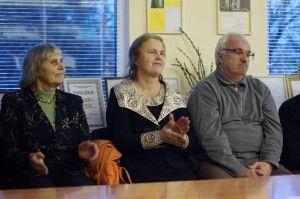 O. Papaurėlio nuotr. LKRS Rokiškio skyriaus nariai Danutė Mažeikienė, Gražina Pitrėnienė ir Antanas Žilinskas.